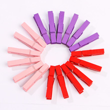 10pcs/lot Small Size 4.5x0.7cm Mini Spring colorful Wood Clips for Clothespin Craft Decoration snack Clip Photo Pegs