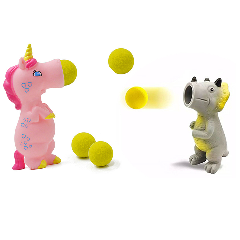 Lensple Triceratops Popper Toy-Pieces Wild Animal Popper Figure Toys Shooting Squeeze Toys For Children Kids