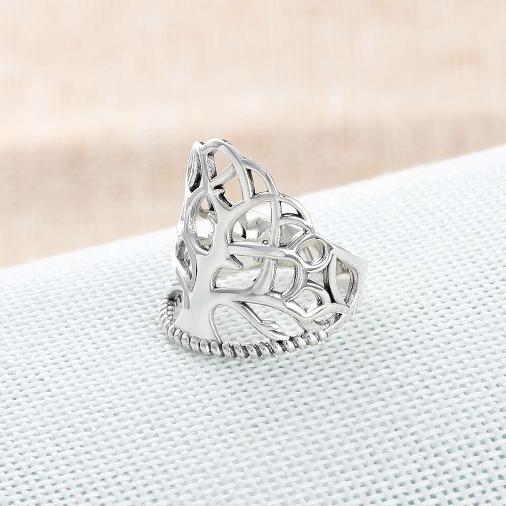 solid 925 sterling silver rings for women tree design vintage style
