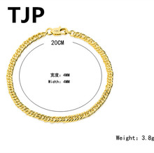 TJP Fashion Women Gold Bracelets Jewelry For Men Party Popular Chain Style Female Bangles Accessories Hot Girl Lady Lover Gift