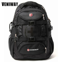 VENIWAY Swiss Brand Gear Waterproof Laptop Brand Backpack 15 inches Large Capacity Business Backpack Travel Bags Schoolbag