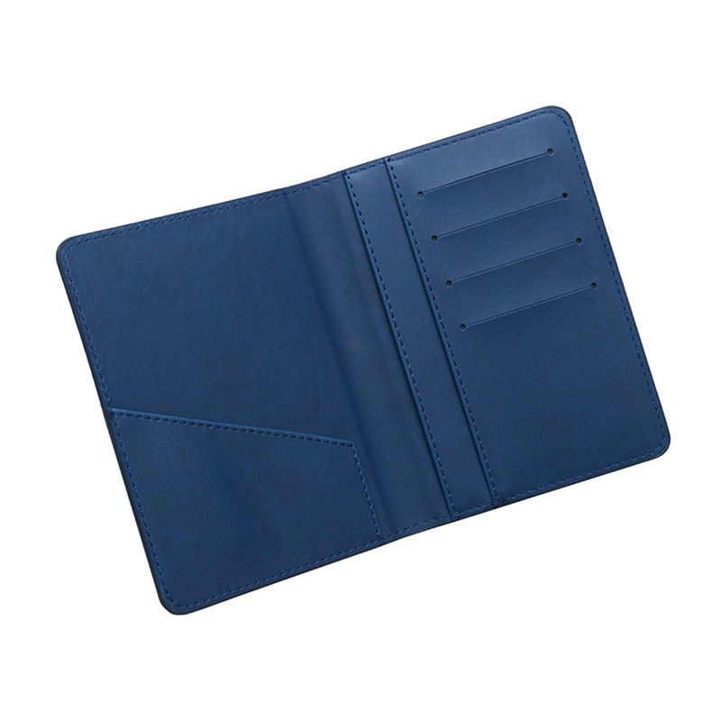Russische Männer RFID Blocking Passport Halter Leder Passport Abdeckung Schlanke Brieftasche Fall Tasche für Reise Dokumente ID Kreditkarte Halter
