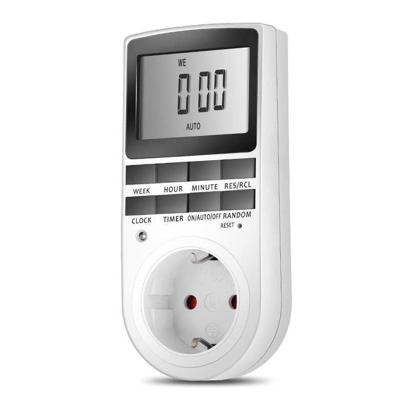 Digital LCD Display 7 Day 24 Hour Electrical Sockets Timer Switch Socket EU US Plug-in Programable цена