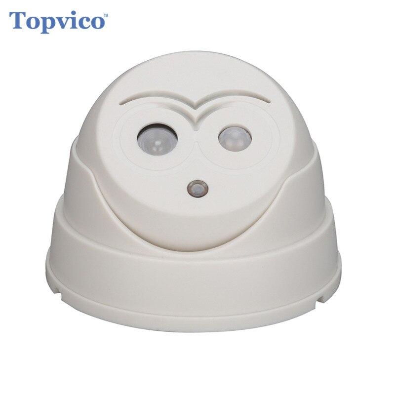 bilder für Topvico drahtlose willkommen alarm türklingel pir infrarot-detektor infrarot motion sensor home alarm security fälschungs-blinde kamera dome