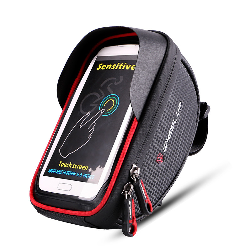 Waterproof Phone Mount Bag Wateproof Universal Cycling Bicycle Frame Pouch Phone Holder 6.0in for Iphone 66s77s8X Storage Case (2)