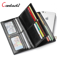 CONTACT S Knitting Genuine Leather Wallet Women Luxury Brand Female Purse Card Holder Clutch Walet Money
