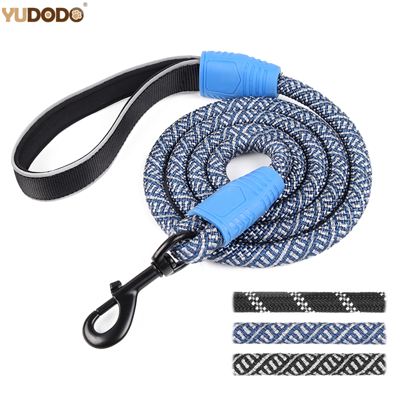 5ft6ft-nylon-reflective-dog-leash-long-mountain-climbing-training-rope-pet-lead-leashes-for-small-medium-large-dogs