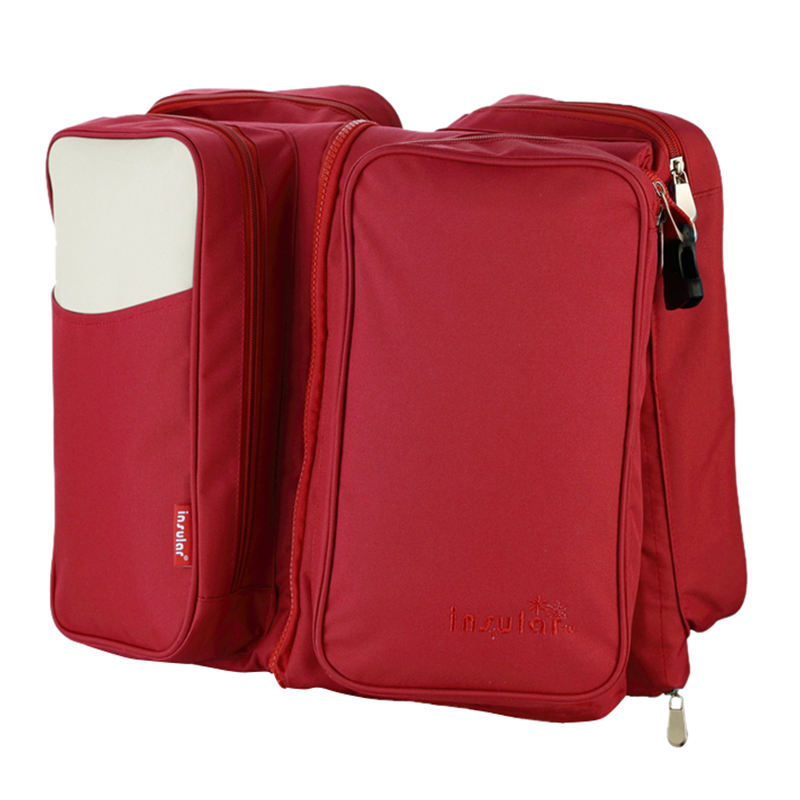 insular Multifunctional Foldable Large Maternity Diaper Bag For Travel Mummy 2 in 1 Bags For Baby Sleeping Bed Red baby cart accessories diaper bag baby travel bag 2 in 1 mummy nappys bags multifunctional changing for stroller fold baby bed