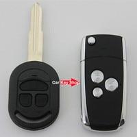 3 botão Flip Remoto Folding Chave Shell Fob Keyless Caso Fit Para Buick Excelle HRV Chevrolet