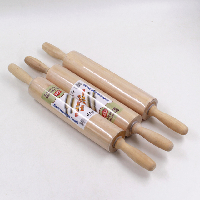 Solid wood rolling pins for fondant embossing cake dough