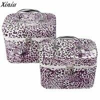 2 Set Of Makeup Bag Women Leopard Luxury Travel Cosmetic Bag Multifunction Makeup Toiletry Organizer Bolsa