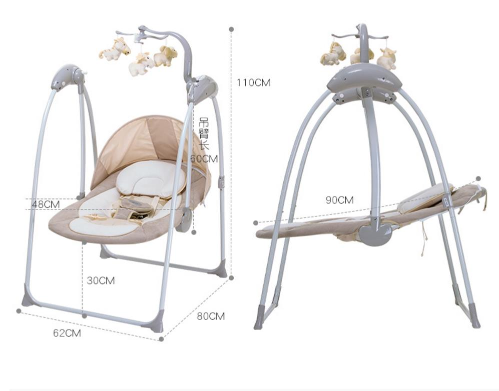 Baby Vibrating Chair bassinet newborn Musical Rocking Chair Electric Recliner Cradling Baby swing cradle with Remote Control