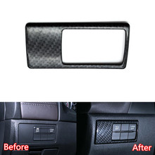 YAQUICKA For Mazda 6 Atenza 2017 2018 Carbon Fiber Style Car Interior Front Light Lamp Switch Frame Trim Styling Sticker ABS