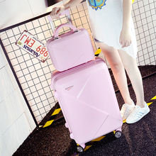 Wholesale!14 22inches pink/inexperienced/purple/beige abs hardside journey baggage baggage on common wheels for younger woman,present for delivery