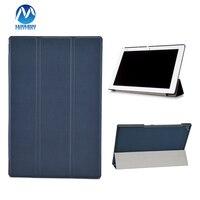 עבור Sony Xperia Z2 10.1 inch Tablet מקרה כיסוי עור PU עבור Sony Z2 Tablet Slim מתקפל Case כיסוי + סרט + עט חרט