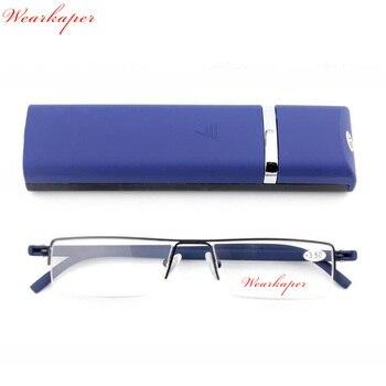 128ab3bc96 WEARKAPER actualización marco medio de TR90 templo Mini gafas de lectura  magnética de las mujeres de los hombres dioptrías de presbicia anteojos  recetados