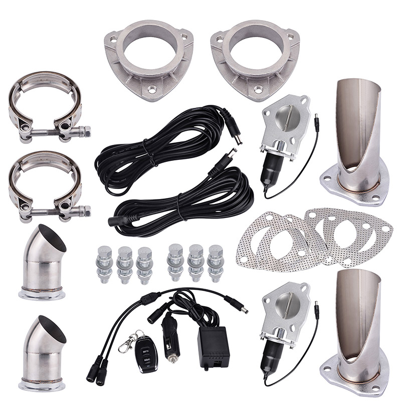 evil energy 2 0 2 25 2 5 3 0 Electric Exhaust Cutout Stainless Catback Downpipe