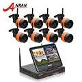 """O mais novo sistema de vigilância 8ch anran plug & play sem fio 10 """"lcd nvr 2 tb HDD 720 P HD Noite IR Visão Outdoor CCTV WIFI IP câmera"""
