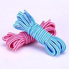 1 пара в полоску двойной цвет шнурки круглые шнурки на открытом воздухе отдыха шнурки унисекс высоко Лучший!