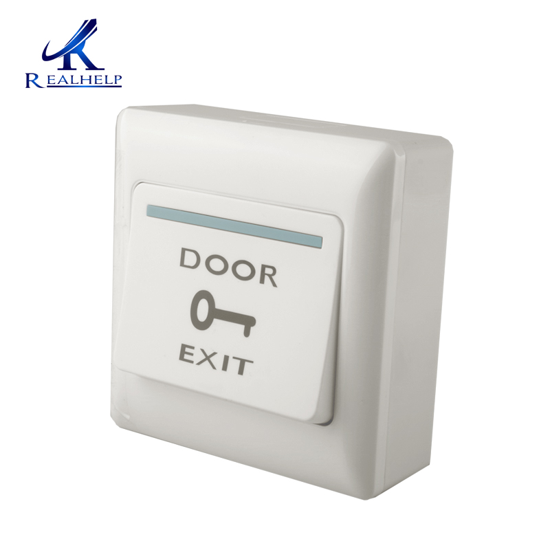 Dc12v Push Exit Release Button Switch With Button Box For Door Access Control System Plastic Panel And Button