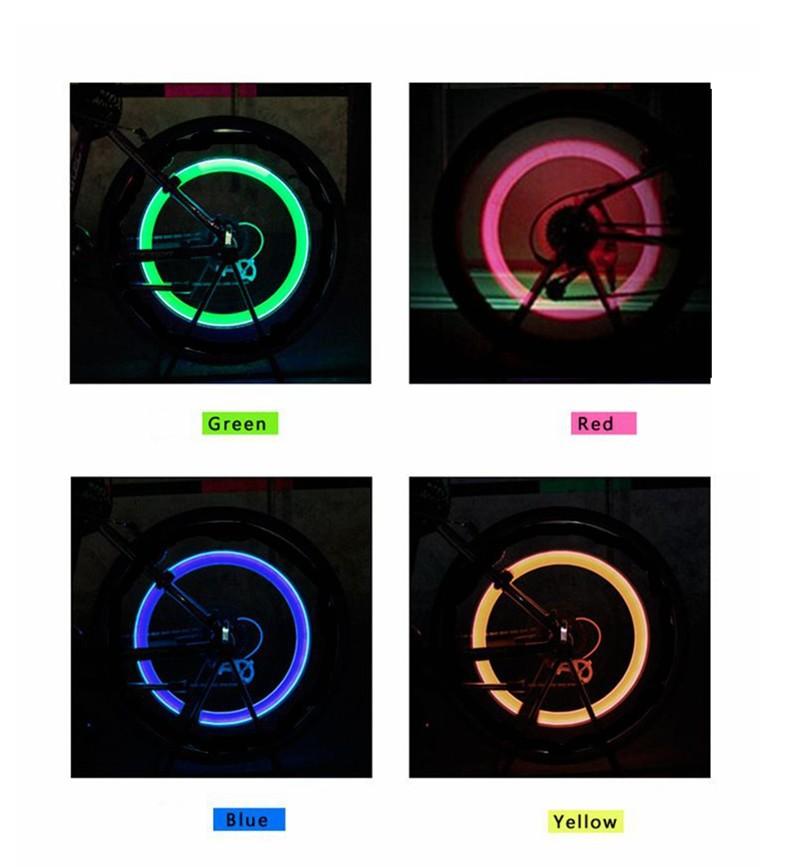 Tyre Tire Valve Caps Wheel spokes LED bike bicycle light (19)