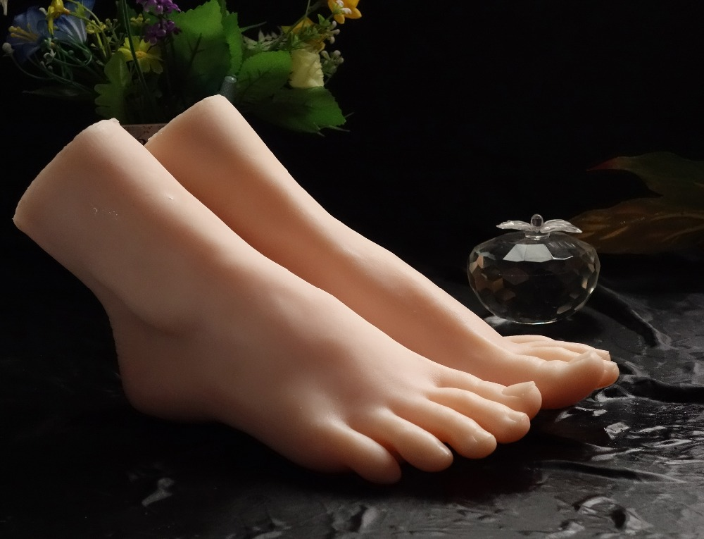 Silicone foot model/fake foot/female foot/soft feet/solid silicone feet model/silicone feet sex toy top quality new sex product soft feet fetish toys for man lifelike female feet mannequin fake feet model for sock show ft 3600 1