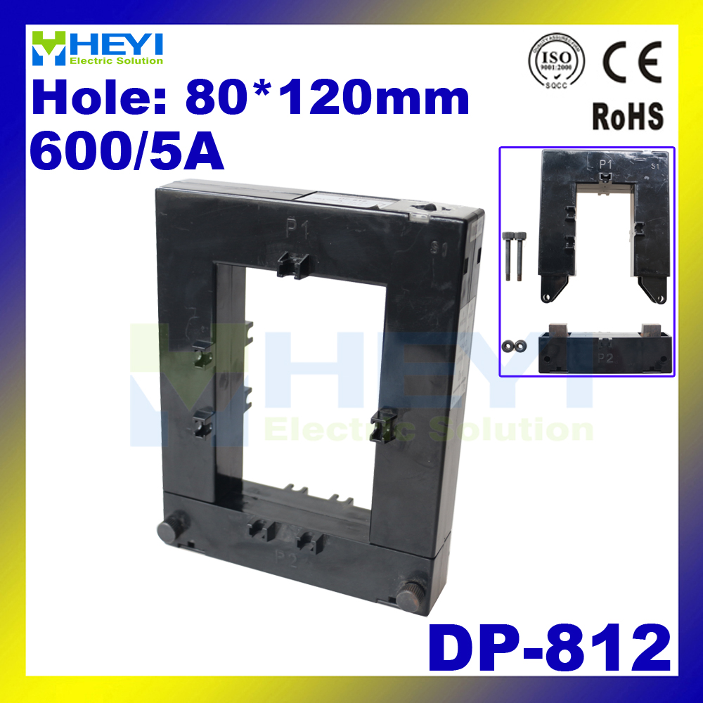 ФОТО CLASS 0.5 split core current transformer high accuracy DP-812 600/5A factory supply Din Rail open type current transformers