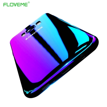 FLOVEME Phone Case For iPhone 7 6s 6 Plus 5s 8 X Xs Max Cases For Samsung Galaxy S6 S7 S8 Edge A5 2017 A3 A7 2016 Cover Blue-Ray