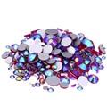 Pedras de vidro de Cristal Strass DIY Para Unhas Design ss3-ss30 E Misturado Siam AB Strass Glitter Decorações Da Arte Do Prego 3D