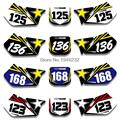 For SUZUKI RM125 RM250 RM 125 250 1999 2000 Custom Number Plate Backgrounds Graphics Sticker & Decals