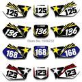 Para SUZUKI RM125 RM250 RM 125 250 1999 2000 Placa de Número Personalizado Fundos Gráficos Etiqueta & Decalques