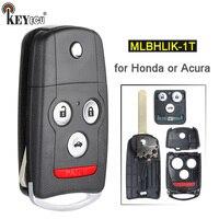 KEYECU 313.8MHz ID46 Chip FCC: N5F0602A1A / OUCG8D 439H A Flip 3+1 4 Button Remote Car Key Fob for Acura TL MDX RDX 2007 2013