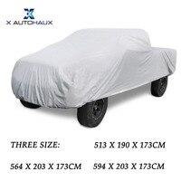 X Autohaux 190T Silver Tone Pickup Car Winter Cover Outdoor Waterproof Scratch Rain Snow UV Heat