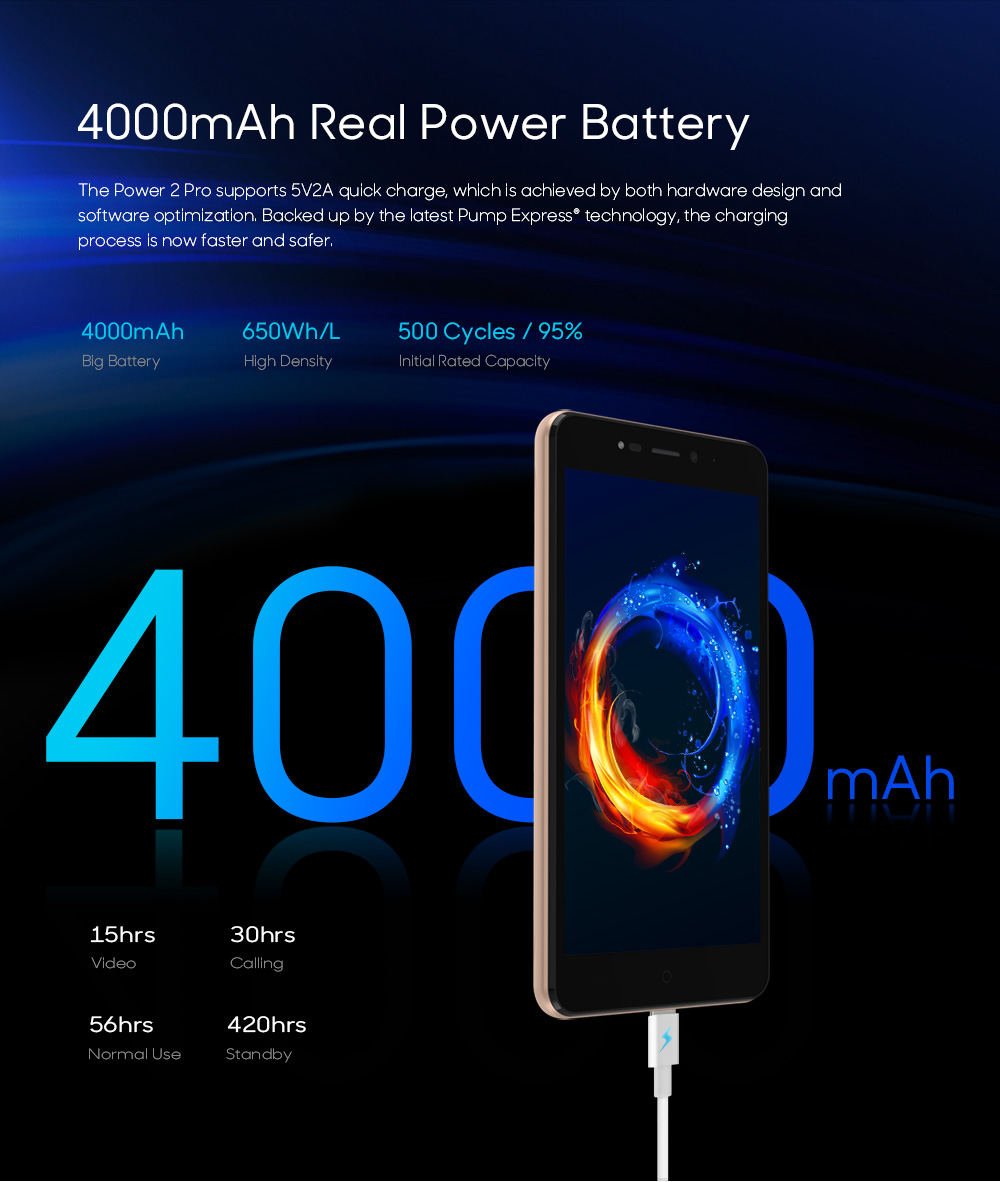 LEAGOO POWER 2 PRO 4000mAh Face ID Fingerprint Smartphone 2GB+16GB Dual Camera Android 8.1 Quad Core 5.2' HD 4G Mobile Phone (3)