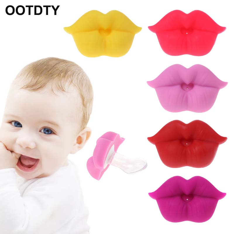Baby Soother Silicone Pacifier Funny Lips Nipple Orthodontic For Infants Newborn