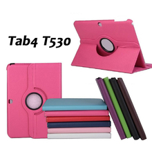 High Quality!360 Rotating PU Leather Case For Samsung Galaxy Tab 4 10.1T530 Flip Smart Tablet Cover Coque Fundas free shipping