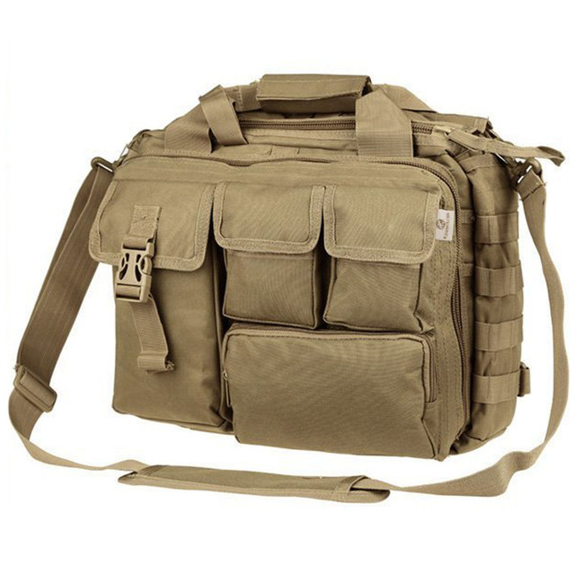 95fbb3575b43 Pro- Multifunction Mens Military Nylon Shoulder Messenger Bag Handbags  Briefcase Large Enough for 14