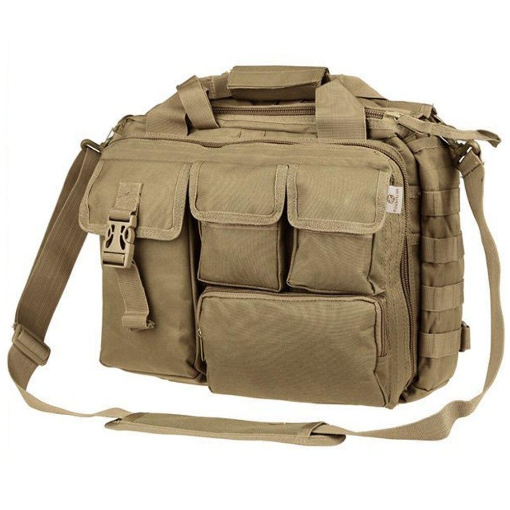 """Pro-multifonction hommes militaire en Nylon épaule Messenger sac sacs à main porte-documents assez grand pour 14 """"La"""