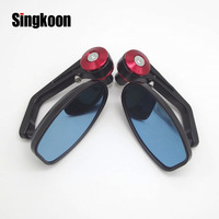7/8'' Motorcycle Accessories Mirror Scooter Motorbike Rearview bar End Mirrors FOR honda magna gsx 650f gsxr 600 k5 cb600 hornet