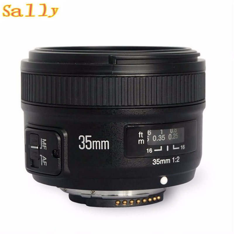 YONGNUO YN35mm F2.0 F2N Wide-angle AF/MF Fixed Focus Lens for Nikon F Mount D7100 D3200 D3300 D3100 D5100 D90 DSLR Camera 35mm