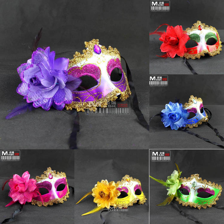 Masquerade Masks Decorations Ideas: 2014 Dance Party Mask Princess Flower Venetian Masquerade
