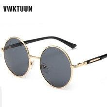 VWKTUUN Oversized Retro Round Sunglasses Women Brand Designer Vintage Sun Glasses Female Eyewear Steampunk Mirror Oculos De Sol