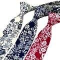 Fashion Floral Print Necktie Formal Cotton Ties for Men Neck-wear Gravata Male Apparel Accessories 2016