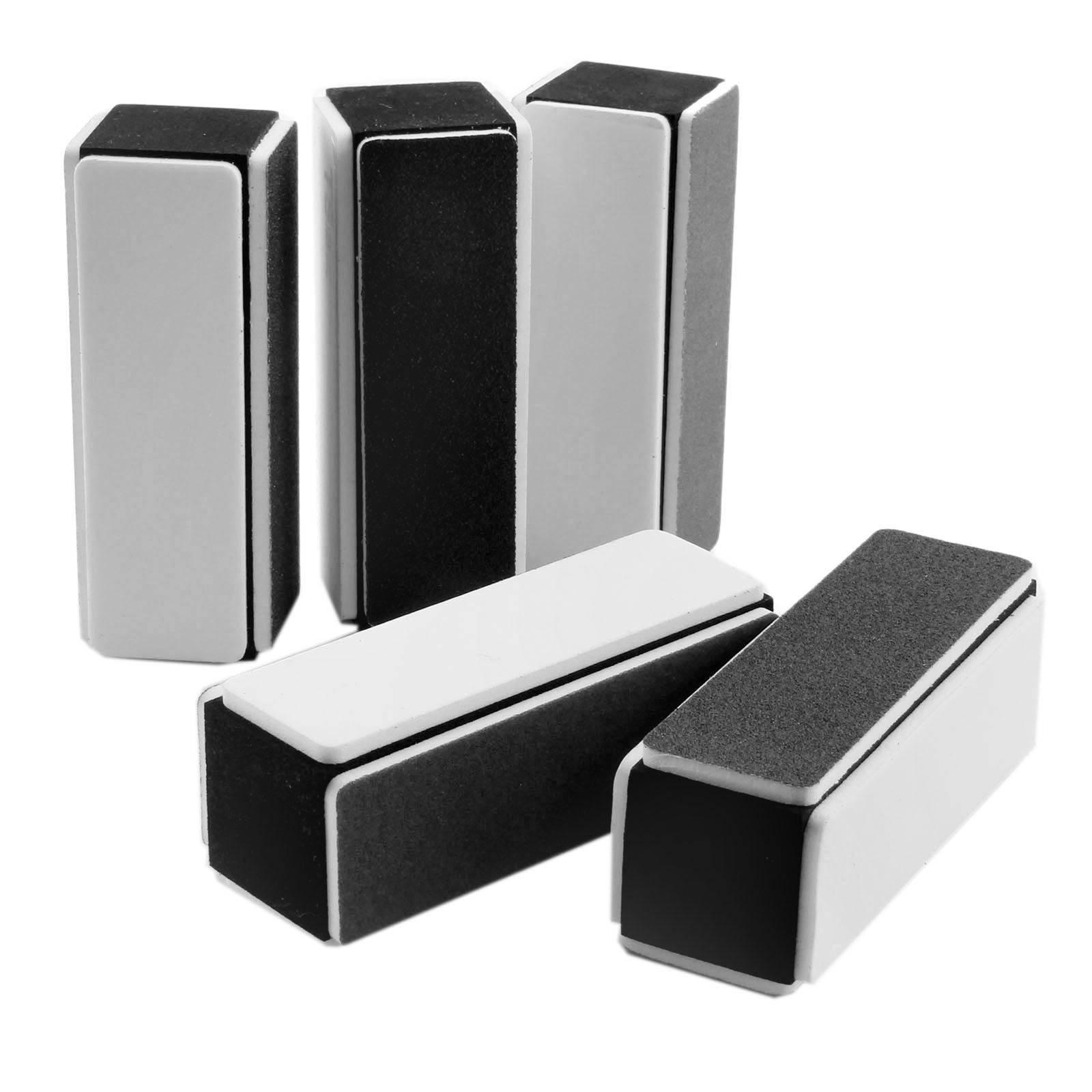 DRELD 5Pcs/lot Sanding Polishing Buffers 4 Way Sponge Buffer Polishing Block Grit 3000 400 240