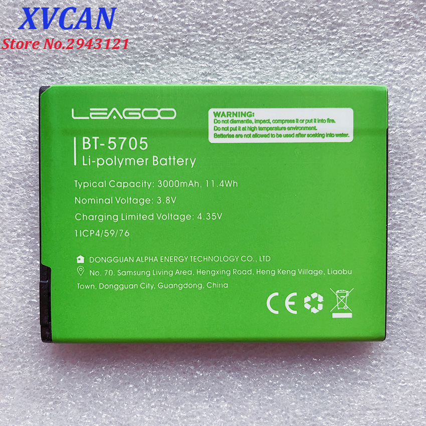 100% New BT-5705 3000mAh Battery For LEAGOO M9 Pro M9Pro BT5705 BT-5705  Mobile Phone Smart Parts Bateria Batterie  In Stock