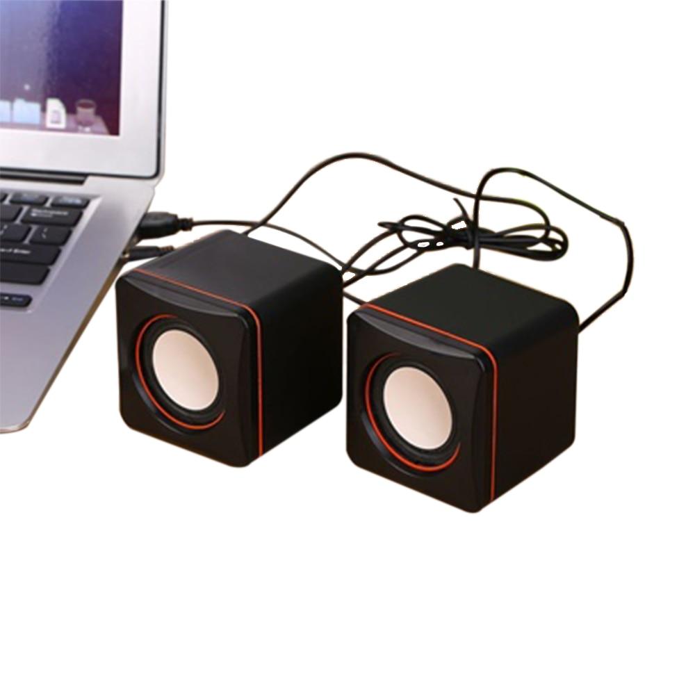 Vapeonly Desktop Mini Speaker Portable USB Wired Laptop Speakers Multimedia Computer Speaker 3.5mm Jack Stereo Bass Music Player