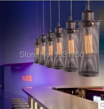 Unique tête edison ampoule salle à manger Bar lumière lustre RH loft Vintage métal seive FILAMENT suspension lampe industrielle éclairage