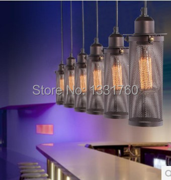 single head edison bulb Dining Room Bar Light Chandelier RH loft Vintage metal seive FILAMENT PENDANT lamp industrial lighting цена