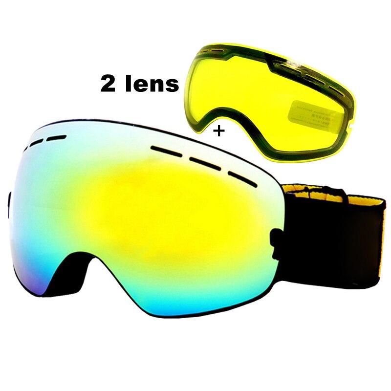 Anti fog font b Ski b font Goggles UV400 font b Ski b font Glasses Double