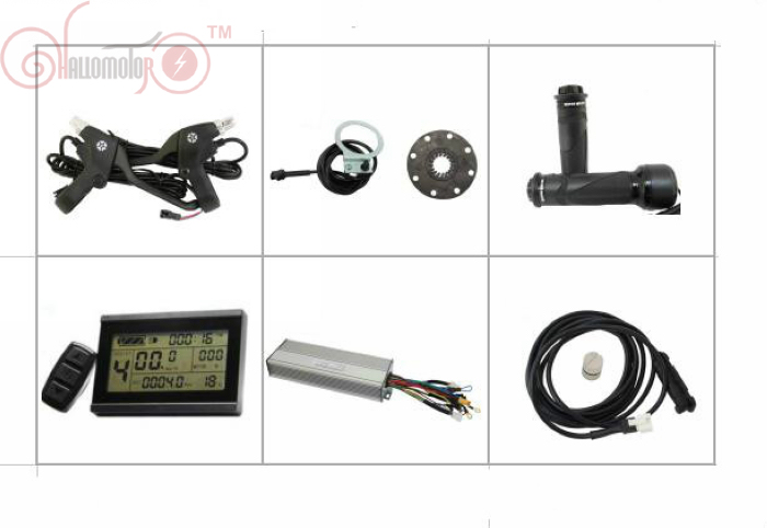 ConhisMotor 36 V 48 V 1500 W Ebike contrôleur à onde sinusoïdale sans balai DC Set fonction régénératrice et inverse capteur de vitesse LCD3 PAS